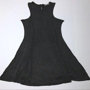 Acemi Classic Gray Mini Dress with Silver Zipper